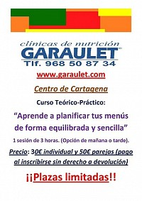 Nuevos cursos de menús saludables en Garaulet Cartagena