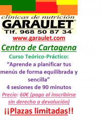 Curso de menús en Garaulet Cartagena