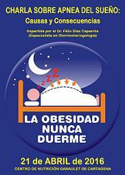 Charla sobre apnea del sueño y obesidad. Causas y consecuencias